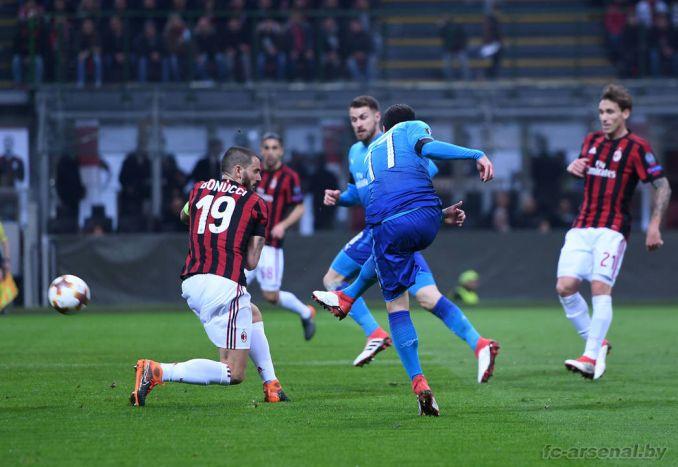 Фотоотчёт матча Милан - Арсенал
