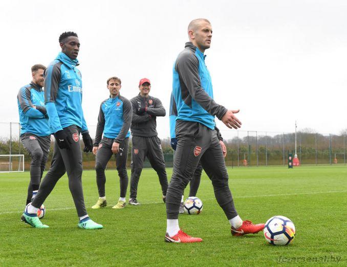 Тренировка перед матчем со Сток Сити