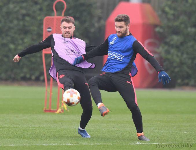 Тренировка перед матчем с ЦСКА