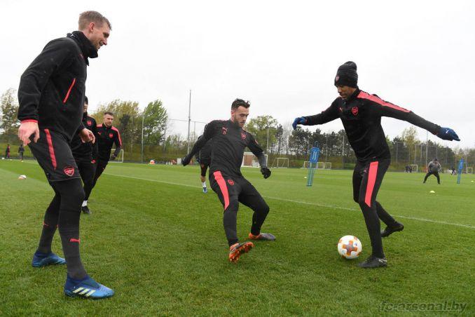 Тренировка перед матчем с Атлетико
