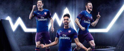 Арсенал представил гостевой комплект формы на сезон 2018/19
