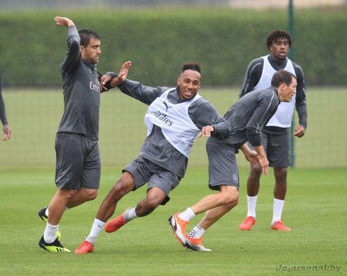 Тренировка перед матчем с Ман Сити