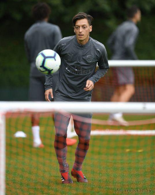Тренировка перед матчем с Вест Хэм Юнайтед